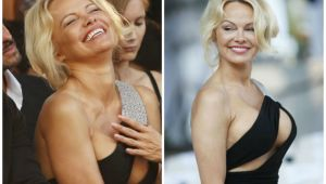 Nimeni nu s-a putut uita in ochii ei: Pamela Anderson, decolteu impresionant! Cum arata din fata