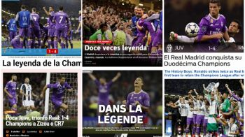 """Europa e a lor! Reactii dupa """"La Duodecima"""" Realului. MARCA si AS: """"Legenda"""". Ce titreaza Sport Catalunya"""