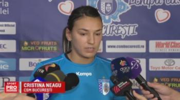 "Cristina Neagu, la primul antrenament cu CSM: ""Visul meu e sa castig Liga cu o echipa romaneasca"". VIDEO"