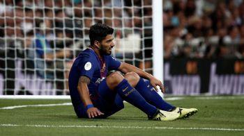 Inca o lovitura pentru Barcelona: Luis Suarez s-a accidentat la genunchi! Va lipsi o luna de pe gazon