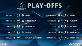 VIDEO: MECI NEBUN in playoff: Astana 4-3 Celtic! Nice 0-2 Napoli! Sevilla 2-2 Istanbul BB! Maribor e in grupele Champions League! Aici ai rezultatele si echipele calificate