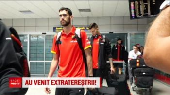 Extraterestrii din baschet au aterizat azi la Cluj. Spania si a venit in Romania sa-si apere titlul