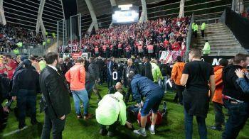 """DEZASTRU in Franta, la Amiens - Lille: 29 de raniti, 4 in stare grava! Patronul lui Amiens: """"Suporterii lui Lille sunt de vina"""""""