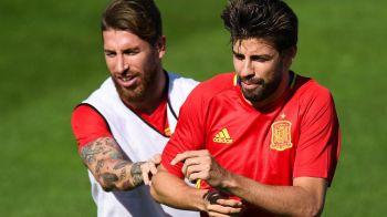 """Sergio Ramos a reactionat pentru prima la scandalul """"Catalonia nu e Spania"""". Cum a raspuns, dupa ce colegul Pique s-a declarat pro-independenta"""
