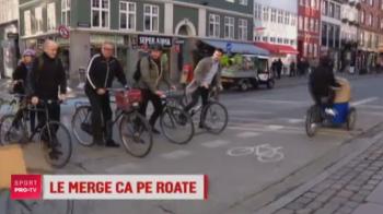 """Budescu si Contra au aterizat """"pe alta planeta"""". Copenhaga, orasul cu mai multe biciclete decat masini: VIDEO"""