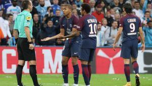 Neymar si-a iesit din minti dupa ce a fost faultat de 3 ori in 10 secunde! A sarit la bataie si a primit rosu in derby-ul cu Marseille! VIDEO